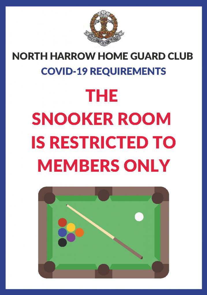 COVID19 - Snooker Room